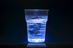 vatten för bubblakoppplast- Royaltyfri Fotografi