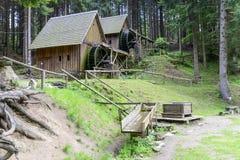 Vatten för den guld- minen maler i Zlate Hory, Tjeckien Royaltyfri Bild