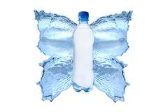 vatten för färgstänk butterfly2 royaltyfri bild