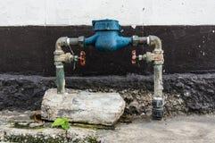 vatten för flödesmätningsräkneverk Arkivbild