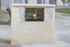 vatten för flödesmätningsräkneverk Royaltyfria Bilder