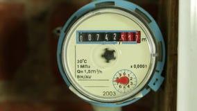 vatten för flödesmätningsräkneverk arkivfilmer