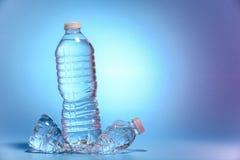 vatten för flaskor två Arkivfoto