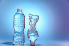 vatten för flaskor två Arkivbild