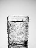 vatten för kallt exponeringsglas arkivfoto