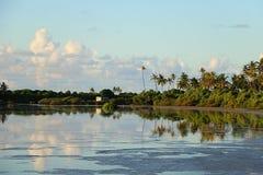 vatten för lake för bakgrundsfiskare nytt Royaltyfria Bilder