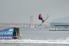 Vatten 2015 för mästerskap för den Putrajaya koppen skidar nationellt och Wakeboard Royaltyfria Bilder