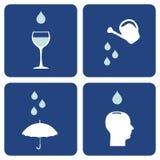 vatten för omsorgssammansättningssymboler Royaltyfri Bild