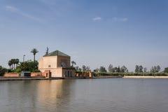vatten för park för handfatmarrakech menara Arkivfoton