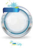 vatten för silver för cirkelram lilly stock illustrationer