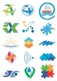 vatten för symbolsnatursymboler
