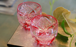vatten för tea för tabell för kokande kopp för påse glass Royaltyfri Foto