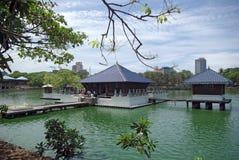 vatten för tempel för colombo lankasri Arkivbild