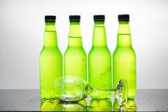 vatten för version för flaskillustrationraster Fotografering för Bildbyråer