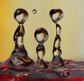 vatten för droppfamiljfolk Royaltyfri Bild