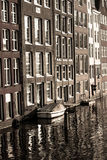 Vatten främre Amsterdam royaltyfri foto