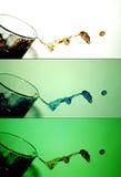 vatten för 3 färgstänk Royaltyfri Foto