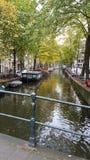 vatten i Amsterdam royaltyfria foton