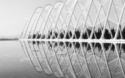 Vatten i arkitektur arkivbilder