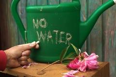 Vatten kan med inget vatten arkivbild