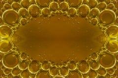 Vatten, luft och olje- blandat för en bubblig effekt Arkivbilder