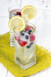 vatten med iskuber - en uppfriskande drink Royaltyfri Bild