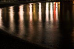Vatten med reflexionstexturbakgrund Royaltyfria Bilder