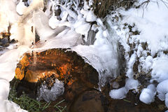 Vatten, is och ljus Royaltyfri Fotografi