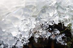 Vatten, is och ljus Royaltyfria Foton