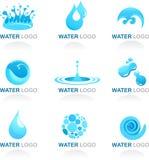 Vatten- och Wavedesignelement Arkivbilder