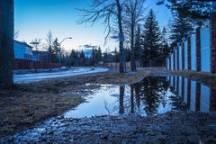 Vatten på trottoaren Royaltyfria Foton