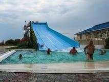 Vatten parkerar i den ryska staden av Anapa, den Krasnodar regionen Royaltyfri Fotografi