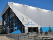 Vatten Polo Aquatic Stad för London OSlekar 2012 Arkivfoto