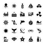 Vatten- skårasymboler arkivfoton