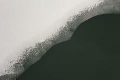 Vatten, snö och is Fotografering för Bildbyråer