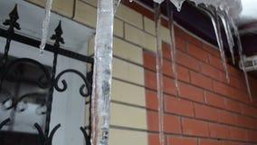 Vatten som flödar över isen arkivfilmer