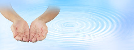 Vatten som läker terapeuten Arkivbilder