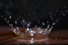 Vatten Splach som kronan Fotografering för Bildbyråer