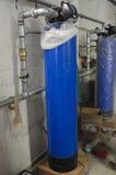 Vattenavhärdare i industrianläggning Arkivfoton