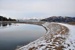 Vattenbehållare sjön, Schmittenhöhe, Zell f.m. ser, Österrike Royaltyfria Foton