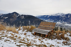 Vattenbehållare sjön, Schmittenhöhe, Zell f.m. ser, Österrike Fotografering för Bildbyråer