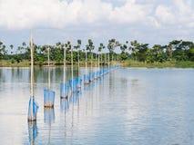 Vattenbruk i Myanmar Arkivbild