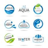 Vattendesignbeståndsdelar. Vattensymbol Royaltyfri Fotografi