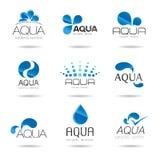 Vattendesignbeståndsdelar. Vattensymbol Arkivbild