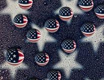 Vattendroppamerikanska flaggan Arkivfoto