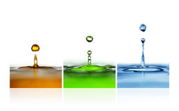 Vattendroppar Arkivbilder