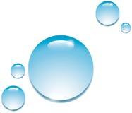 Vattendroppar på vit Fotografering för Bildbyråer