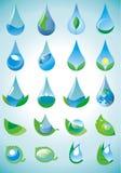 Vattendroppe vektor illustrationer
