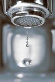 Vattendroppe från en vattenkran royaltyfri bild