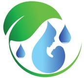 Vattendropplogo Arkivfoto